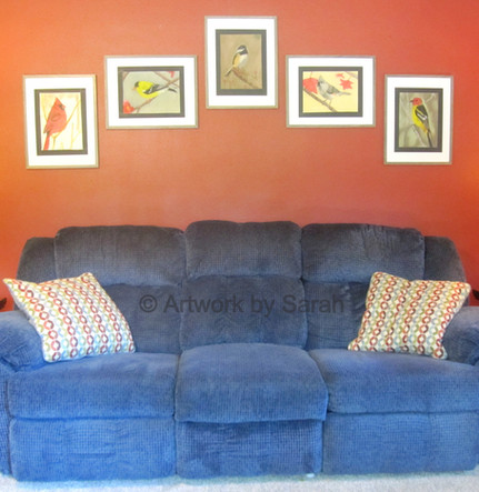 Songbird Collection Living Room Display