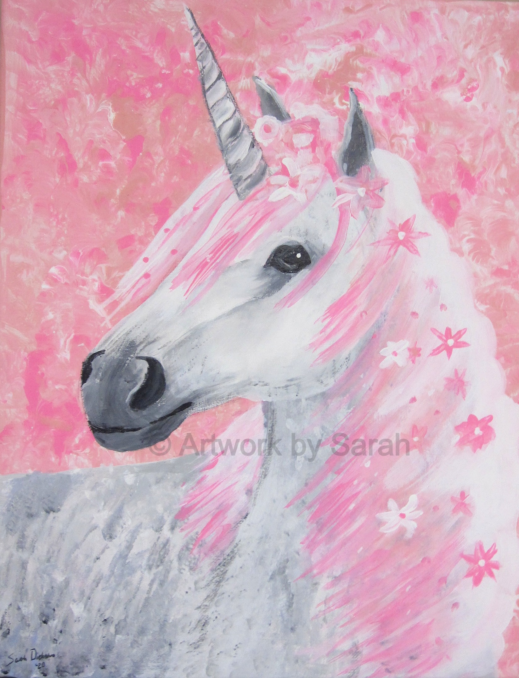 Portrait of a Pink Unicorn