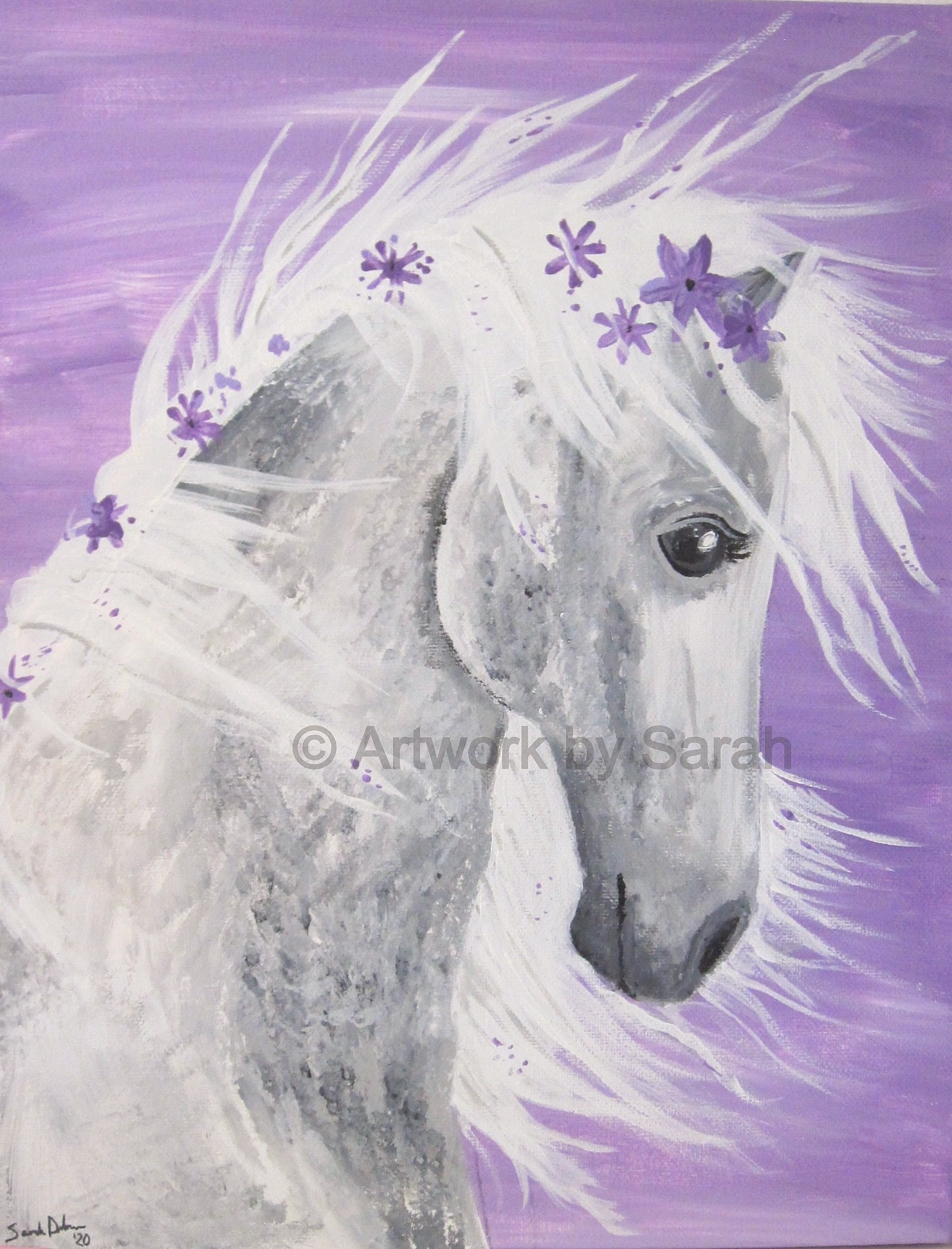 Portrait of a Purple Horse