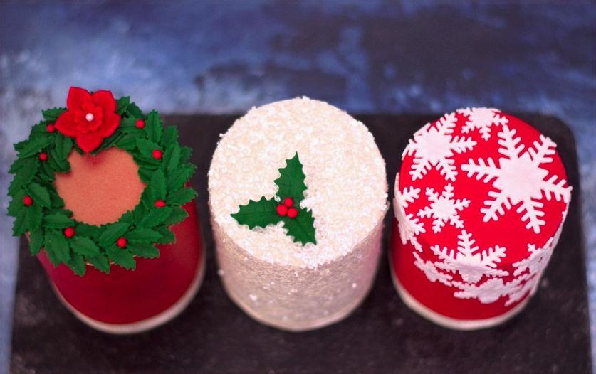 Mini Christmas Cake Class
