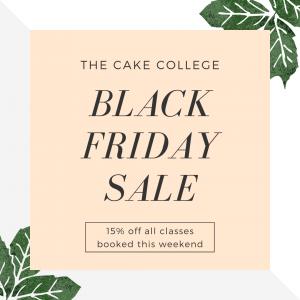 Black Friday cake class sale