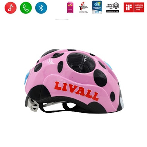 Livall KS2 smart kids helmet - yellow & pink available from 2-4 yrs
