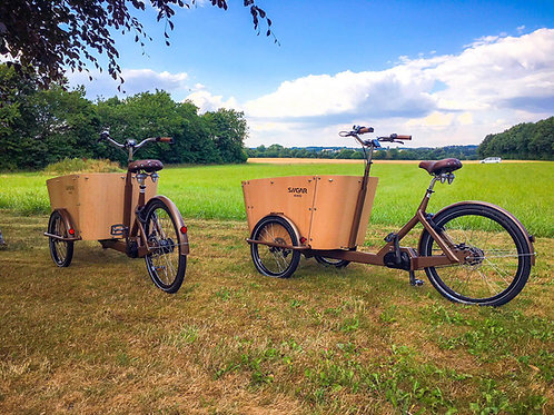 Siigar Di2 -e-steps electric cargo bike in stainless steel