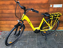 Yellow TUI EMAX Electric Bike