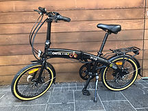 Black Folding E Bike Onya