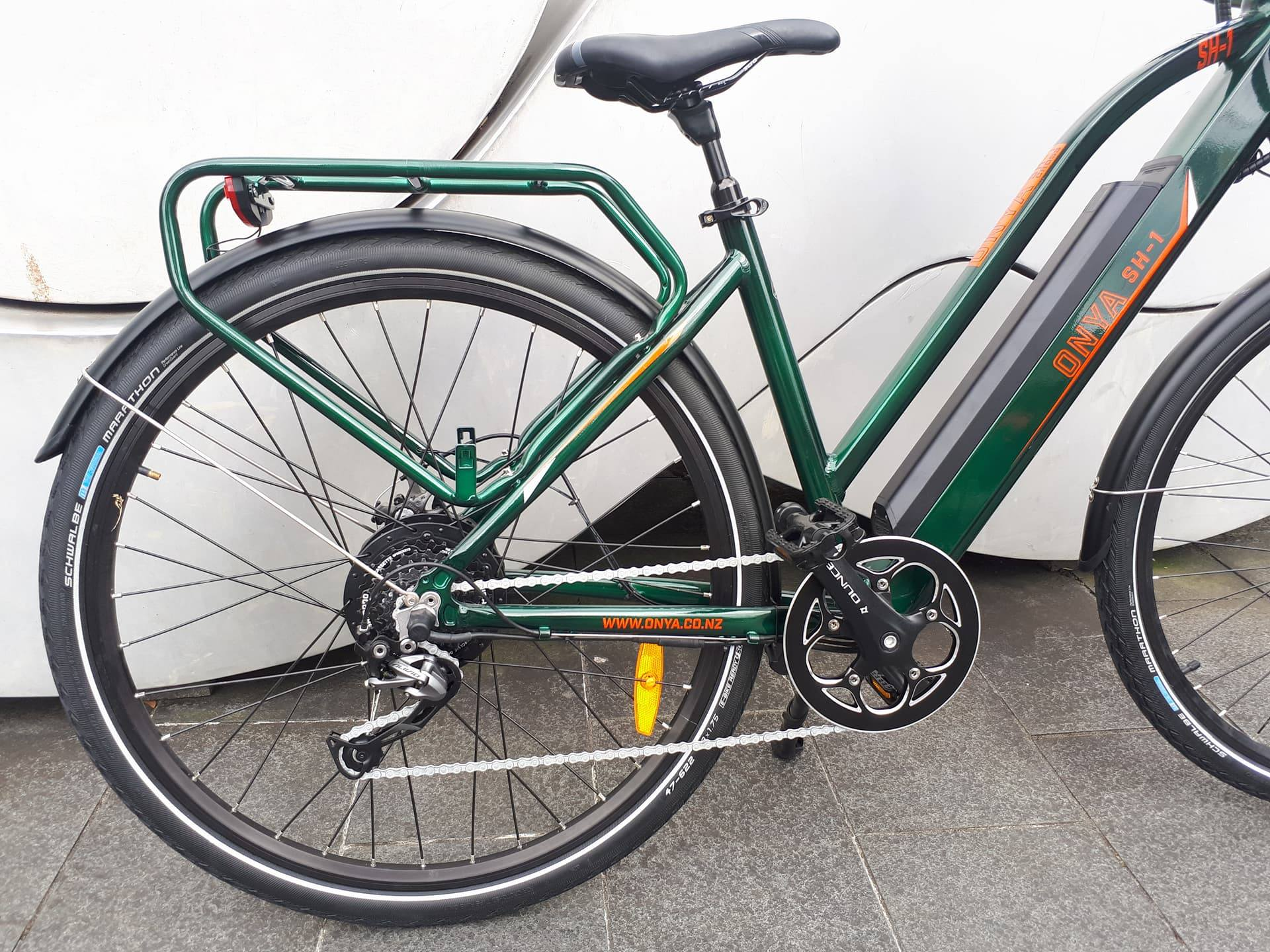 E bike ONYA SH1 Green Back