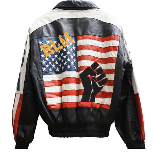 BLM 2020 Leather Varsity Jacket.