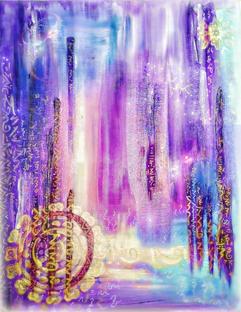 Light Language Art Royal Indigo