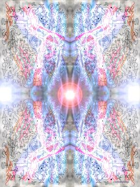 Encoded Fractal Fields of Blue Diamond