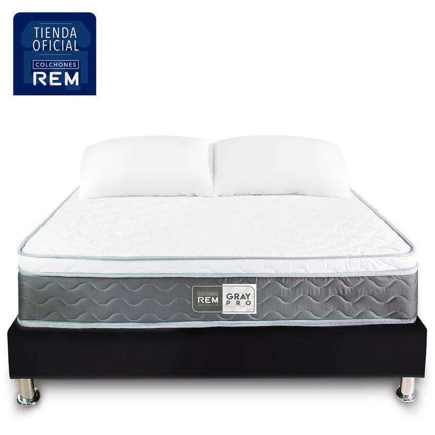 Combo-Colchon-Doble-140x190-Rem-Gray-Pro