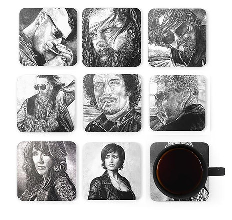 Sons of Anarchy Coaster Set
