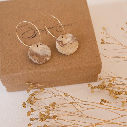 Marbled Hoop Earrings