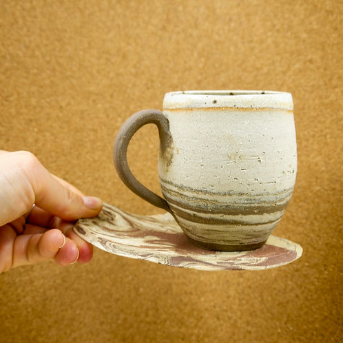 Swirl Mug and Saucer | 01