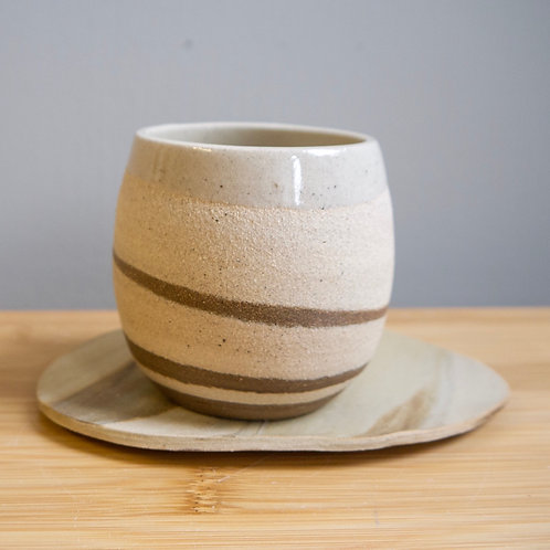 Swirl Cup with Saucer