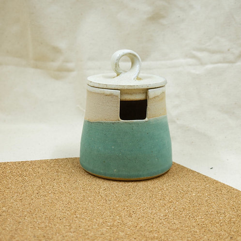 Honey Pot | Speckled Oatmeal | Turquoise