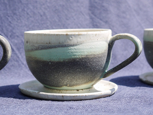 Cappuccino cup with Saucer | Speckled Patina