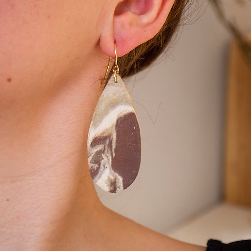 Marbled Drop Earrings