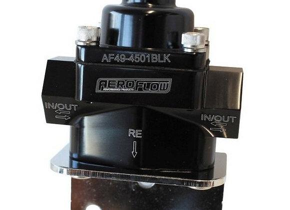 Aeroflow Billet Bypass Fuel Pressure Regulator 4.5-9PSI -8 ORB Black
