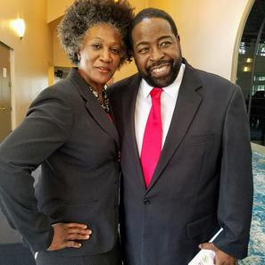 Dr. Renita Gibbs with Les Brown