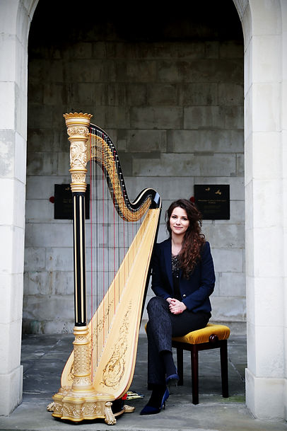 Birmingham Harpist, Rita Schindler
