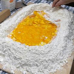We prepare the dough