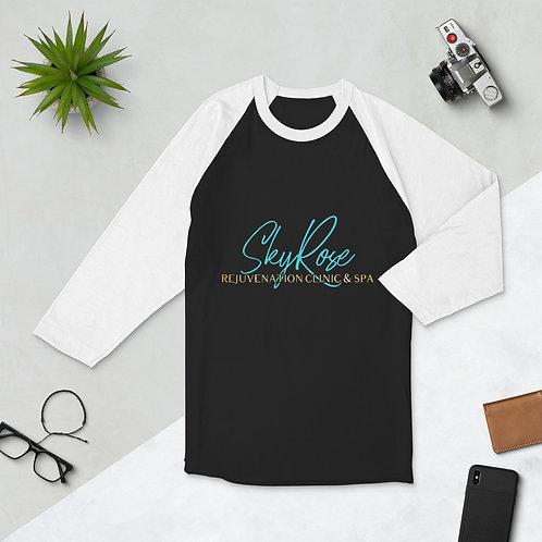 Sky Rose 3/4 sleeve raglan shirt- Unisex