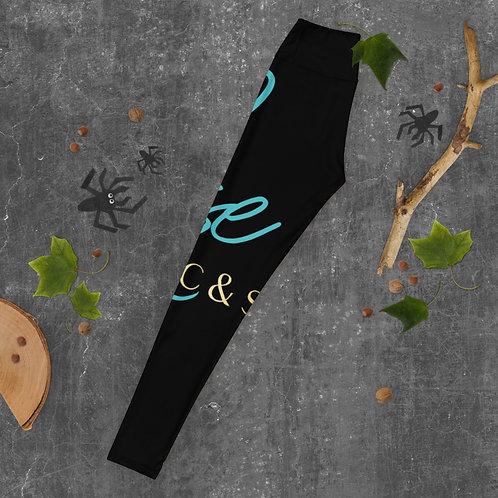 SkyRose RCS Yoga Leggings-BLACK