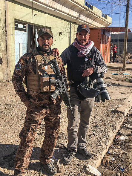 Nish Nalbandian in Mosul during the campaign to liberat it from ISIS