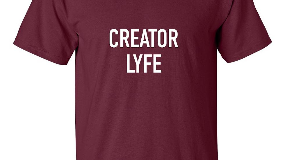 Creator Lyfe (maroon & white) | Unisex T-Shirt