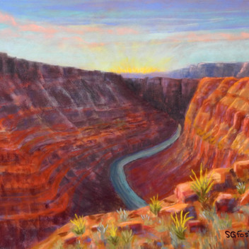 """Honaker Trail at Day's End - 12""""x16"""""""