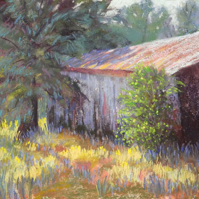 """Behind the Shed - 9"""" x 12"""""""
