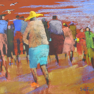 """Surf Seekers - 9"""" x 12"""" - Sold"""