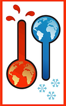 clipart, climate change - hot, cold ther