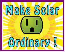make solar ordinary label, Aqua letters