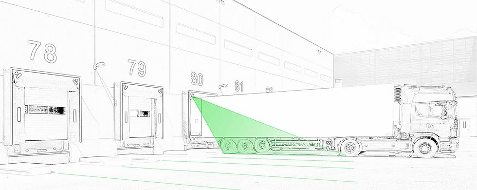Green line laser for loading docks