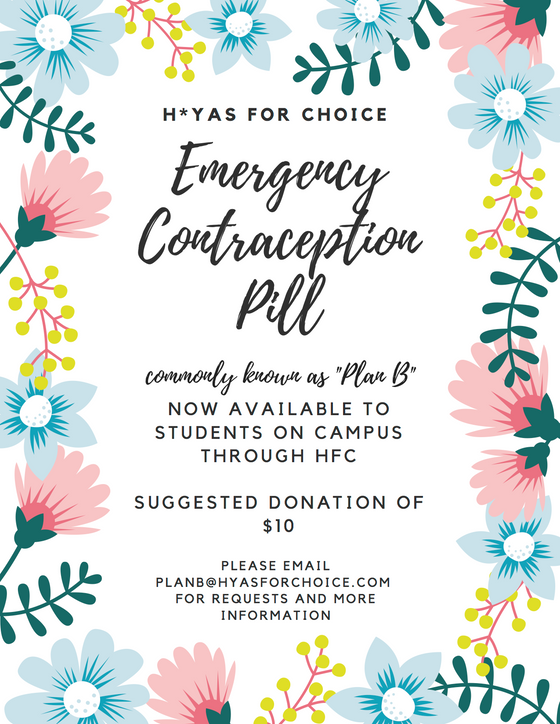 HFC Brings Emergency Contraception to Georgetown: Press Release