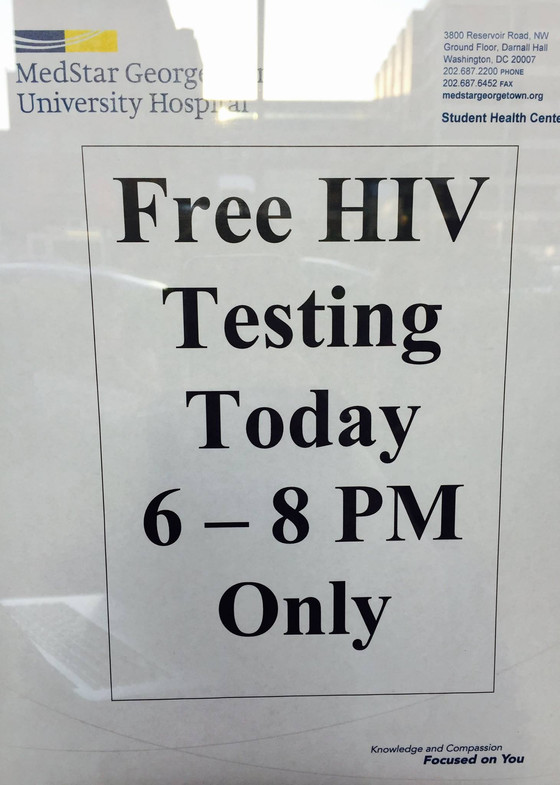 Free, confidential HIV testing at Georgetown University