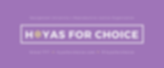 H*yas for Choice Banner