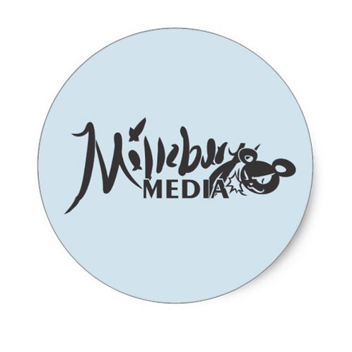 Official Millsbury Media Logo Classic Round Sticker (per sheet of 20