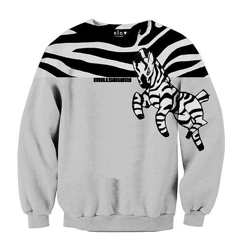 Zebra Print Sweat Shirt