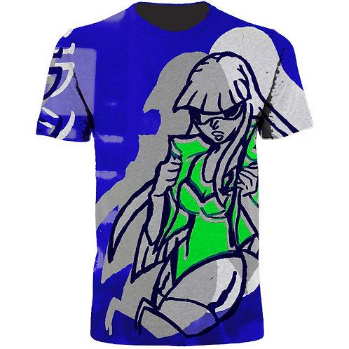 Cyber Girl Print Tee Shirt