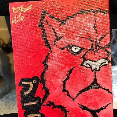 Blood Puma Painting