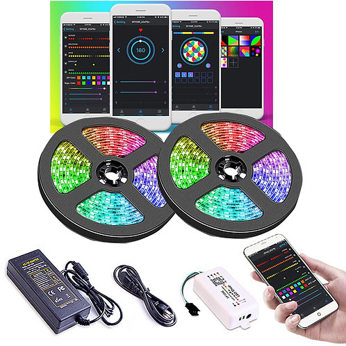 Led Strip Light With Chasing Effect, With Power Supply and WiFi Controller