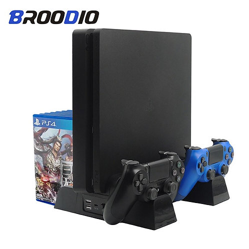 Vertical Console Cooling Stand Controller Charger PS4/PS4 Slim/Ps4 Pro