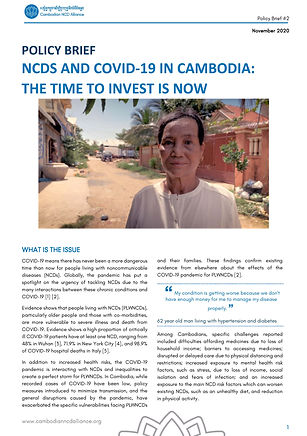NCDs and COVID-19 in Cambodia - The time