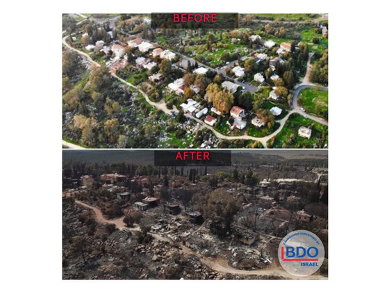 3 weeks after the Moshav Fire