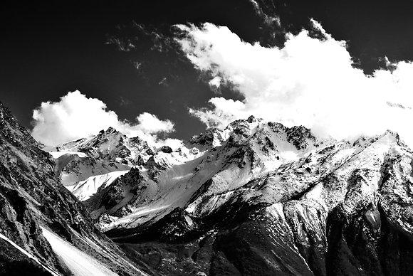 Langtang mountain scene