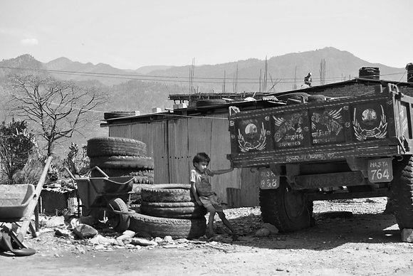 Boy with lorry