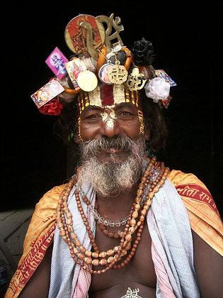 Smiling sadhu