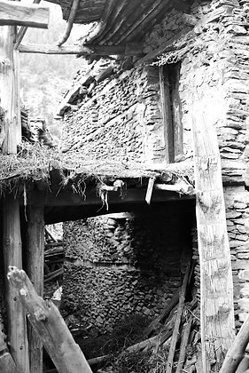 Tumbled village architecture